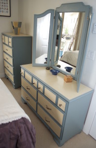 The fully restored dressers