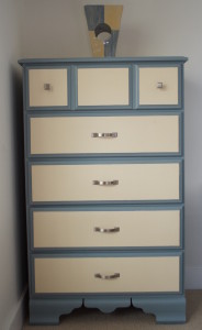 The completed tall dresser