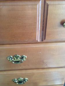 The original tall dresser with brass handles