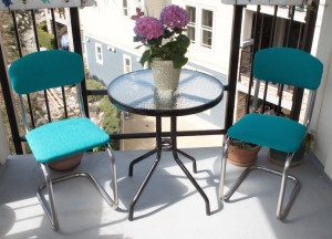 Chairs in use